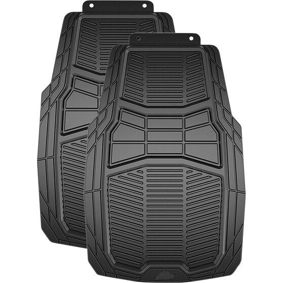 Armor All Car Heavy Duty Floor Mats Rubber Black Front Pair, , scaau_hi-res