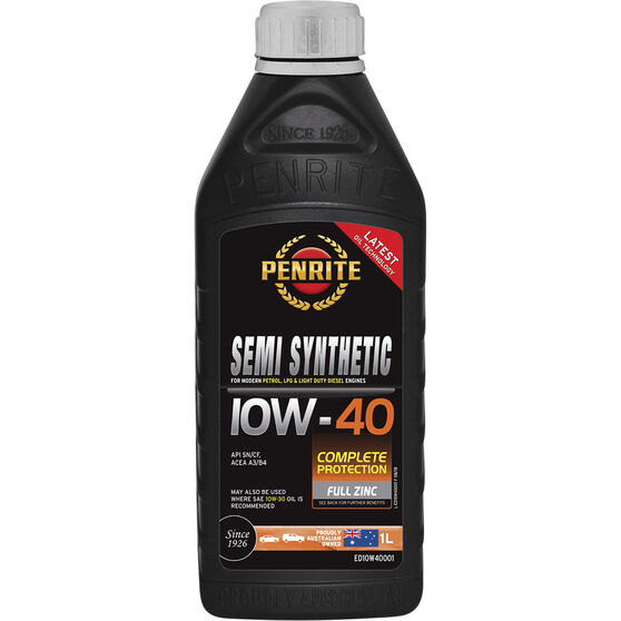 Penrite Semi Synthetic Engine Oil - 10W-40 1 Litre, , scaau_hi-res
