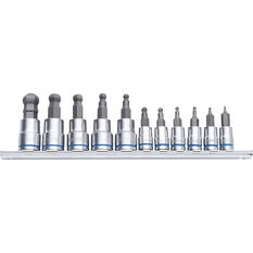 Kincrome Ball-End Hex Socket Set Metric 11 Piece, , scaau_hi-res
