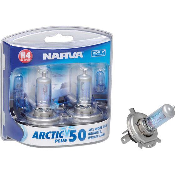 Narva Arctic Plus 50 Headlight Globe - H4, 12V, 60/55W, , scaau_hi-res