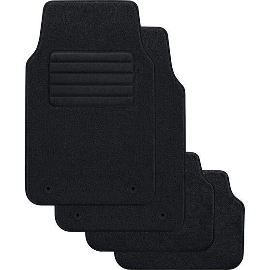 SCA Optimum Car Floor Mats - Carpet, Black, Set of 4, , scaau_hi-res
