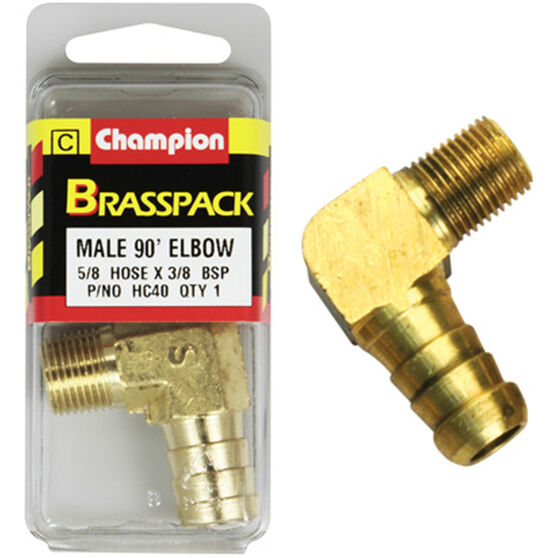 Champion Male Elbow 90° - 5/8 x 3/8 Inch, Brass, , scaau_hi-res