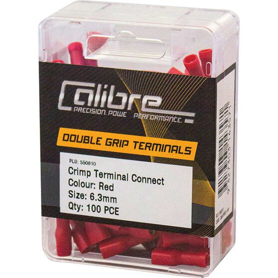 Crimp Terminal Connect 6.3mm Red 100Pk, , scaau_hi-res