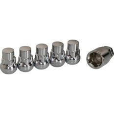 Calibre Wheel Nuts, Tapered Slim, Chrome - SLN14150, 14mm x 1.50mm, , scaau_hi-res