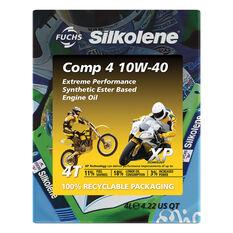 Silkolene Comp 4 XP Motorcycle Oil 10W-40 4 Litre, , scaau_hi-res