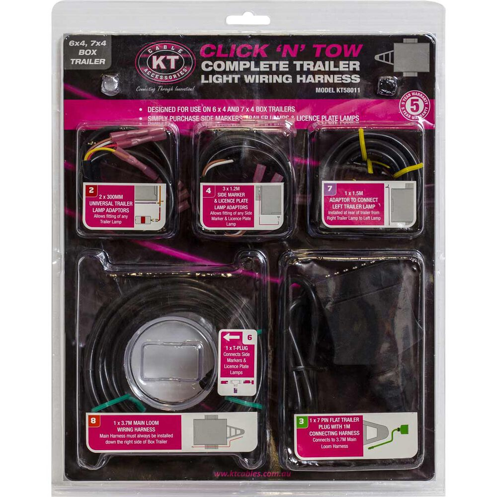 Click N Tow Kit 7 Pin Flat Supercheap Auto Boat Trailer Wiring Harness Straps Scaau Hi