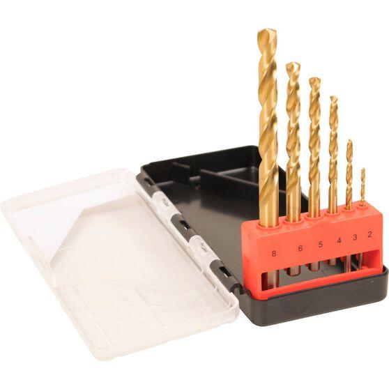 ToolPRO Tin Coated Drill Bit Set - 6 Piece, , scaau_hi-res