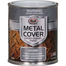 Metal Cover Rust Paint - Enamel, Silver, 500mL, , scaau_hi-res