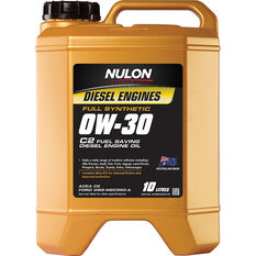 Nulon Full Synthetic C2 Fuel Saving Diesel Engine Oil 0W-30 10 Litre, , scaau_hi-res