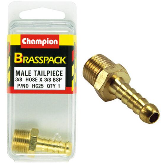 Champion Male Hose Barb - 3 / 8inch X 3 / 8inch, Brass, , scaau_hi-res