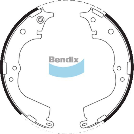 Bendix Brake Shoes - BS1714, , scaau_hi-res