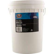 White Pail Bucket With Lid - 20L, , scaau_hi-res