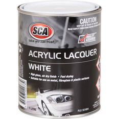 SCA Acrylic Paint - White, 1 Litre, , scaau_hi-res