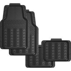 SCA Tread Floor Mats - PVC, Black, Set of 4, , scaau_hi-res