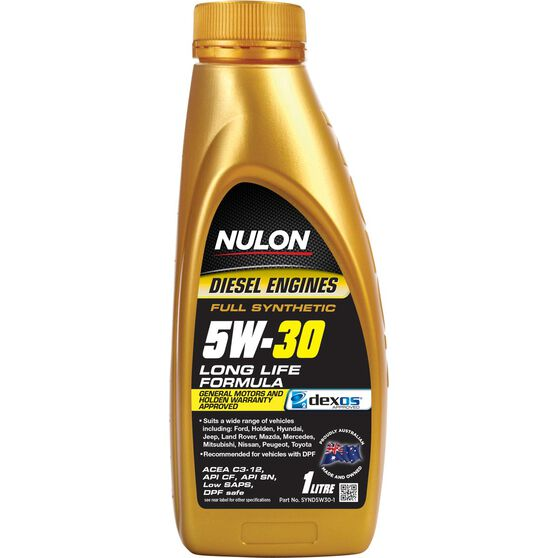 Nulon Full Synthetic Diesel Long Life Engine Oil - 5W-30 1 Litre, , scaau_hi-res