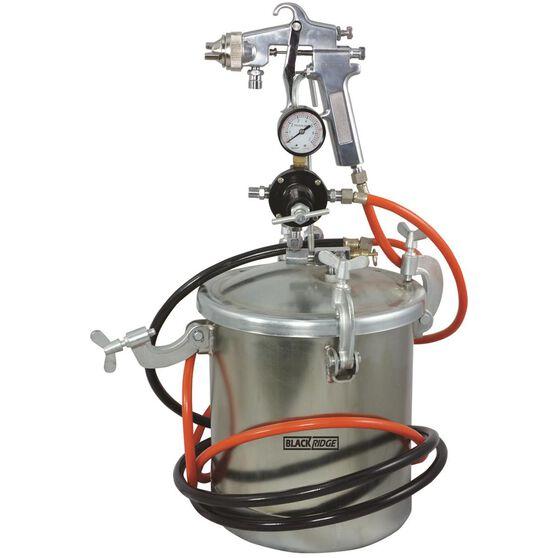 Blackridge Air Spray Gun, Siphon Feed - Paint Tank 10 Litre, , scaau_hi-res