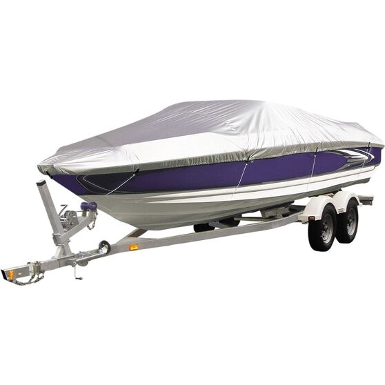 CoverALL Boat Cover Silver Protection - Water Resistant, Suits 12 - 14ft Boats, , scaau_hi-res