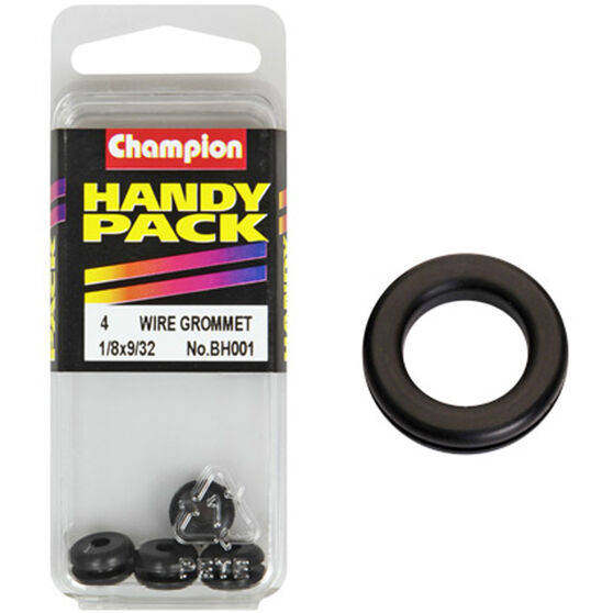 Champion Wiring Grommet - 1 / 8 X 9 / 32inch, BH001, Handy Pack, , scaau_hi-res