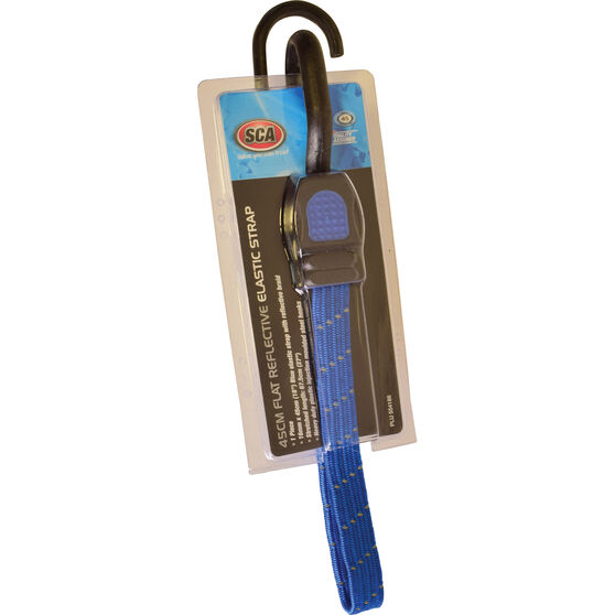 SCA Reflective Flat Bungee Strap - 45cm, Blue, , scaau_hi-res