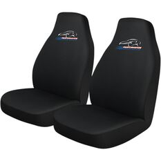 Performance Racing Slip On Seat Covers - Black, Built-in Headrests, Size 60, Slip On, Front Pair, , scaau_hi-res