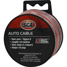 SCA Auto Cable - 10 AMP, 4m, Twin Core, Black / Red, , scaau_hi-res