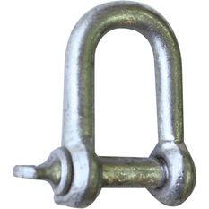 D Shackle - Galvanised, 8mm, , scaau_hi-res