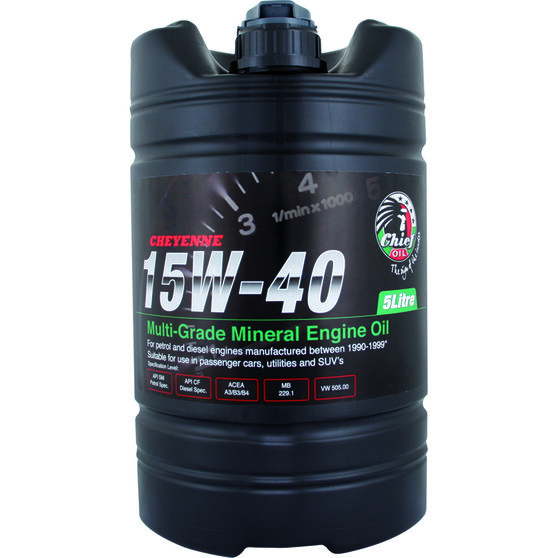 Chief Cheyenne Engine Oil - 15W-40, 5 Litre, , scaau_hi-res