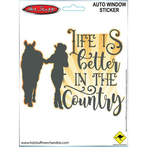 Sticker Life is better in the Country SH2777, , scaau_hi-res