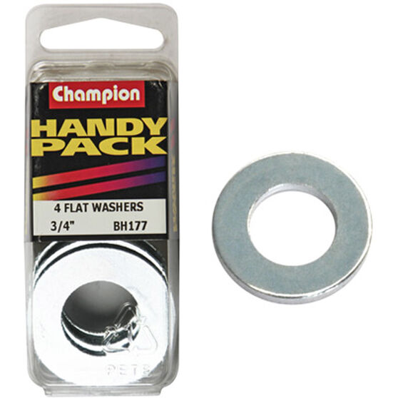 Champion Flat Steel Washers - 3 / 4inch, BH177, Handy Pack, , scaau_hi-res