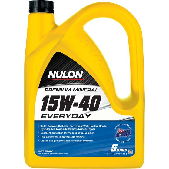 Nulon Premium Mineral Engine Oil - 15W-40, 5 Litre, , scaau_hi-res