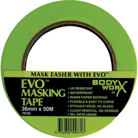 Bodyworx EVO Masking Tape - 36mm x 50m, , scaau_hi-res