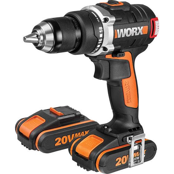 Worx Brushless Driver Drill Kit 20V Li-Ion, , scaau_hi-res