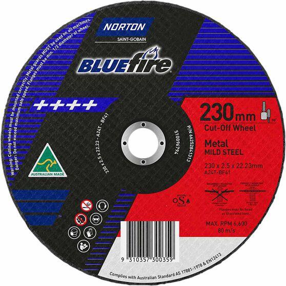 Norton Metal Cut off Disc 230mm x 2.5mm x 22mm, , scaau_hi-res