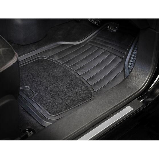 ArmoraAll Car Floor Mats - Carpet/PVC, Black, Set of 4, , scaau_hi-res