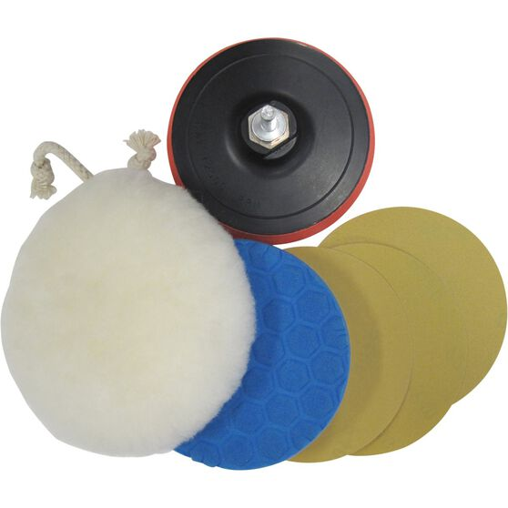 ToolPRO 6 in 1 Sanding and Polishing Kit 125mm, , scaau_hi-res