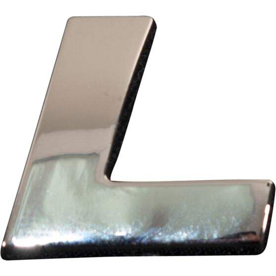 SCA 3D Chrome Badge Letter L, , scaau_hi-res