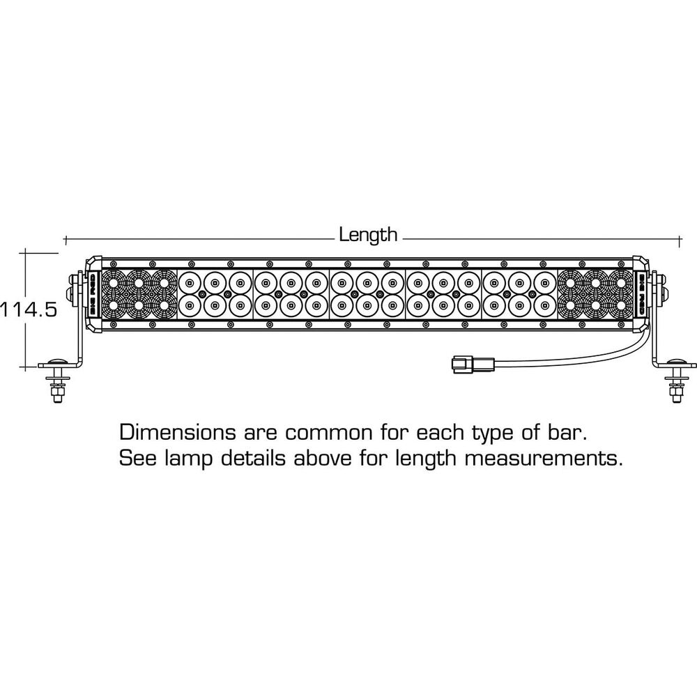 Big Red Driving Light Bar - 24 inch, 42 x 3W, LED, Double