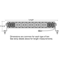 double big red driving light bar - 24 inch, 42 x 3w, led, double