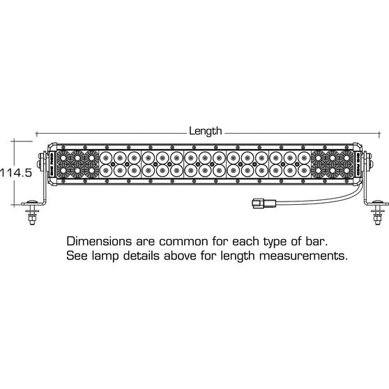 Big Red Driving Light Bar - 24 inch, 42 x 3W, LED, Double Combo