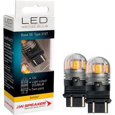 JW Speaker LED Globe - Wedge, 12-24V, Amber, , scaau_hi-res