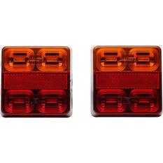 Trailer Lamp LED 12V Square 2 Pack, , scaau_hi-res