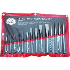 SCA Punch and Chisel Set - 14 Pieces, , scaau_hi-res
