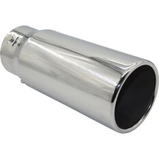 Calibre Stainless Steel Exhaust Tip - Straight Cut Rolled Tip suits 52mm to 76mm, , scaau_hi-res