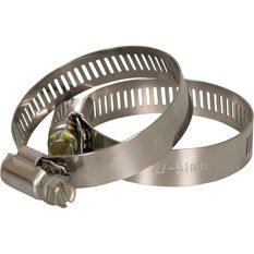 Calibre Hose Clamps - 27-51mm, 2 Pieces, , scaau_hi-res