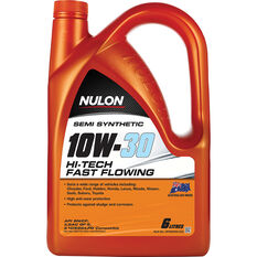 Nulon Semi Synthetic Hi-Tech Fast Flowing Engine Oil 10W-30 6 Litre, , scaau_hi-res