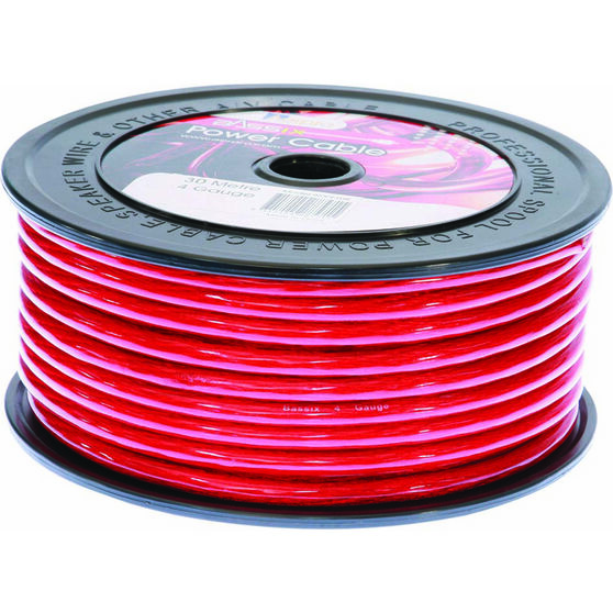 Aerpro Power Cable - 4 AWG, Red, , scaau_hi-res