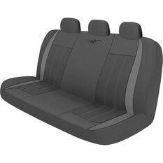 WR Fusion Seat Cover - Grey/Charcoal Adjustable Zips Rear Size 06H, , scaau_hi-res