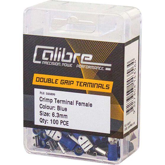 Crimp Terminal Female Blue 6.3mm 100Pk, , scaau_hi-res