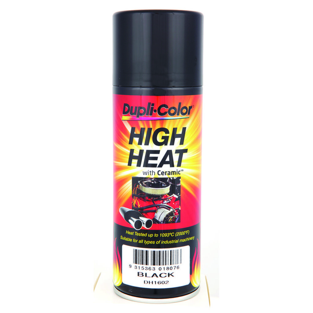 Dupli Color High Heat Aerosol Paint Black 340g Supercheap Auto