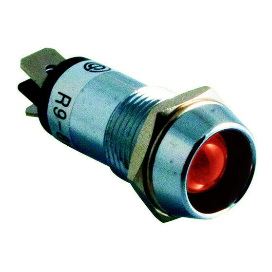 SCA Chrome Pilot Lamp - LED, Red, , scaau_hi-res
